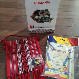 Romanian souvenir traditional lot of 3